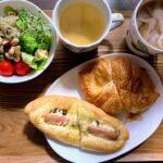 三和食品の工場直売パンとオリンピック開会式を見ながらの夕食。