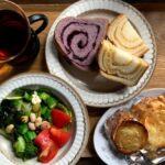 ペニーレインの「ブルーベリーブレッド」と新柏の冷凍餃子「ジュワット」